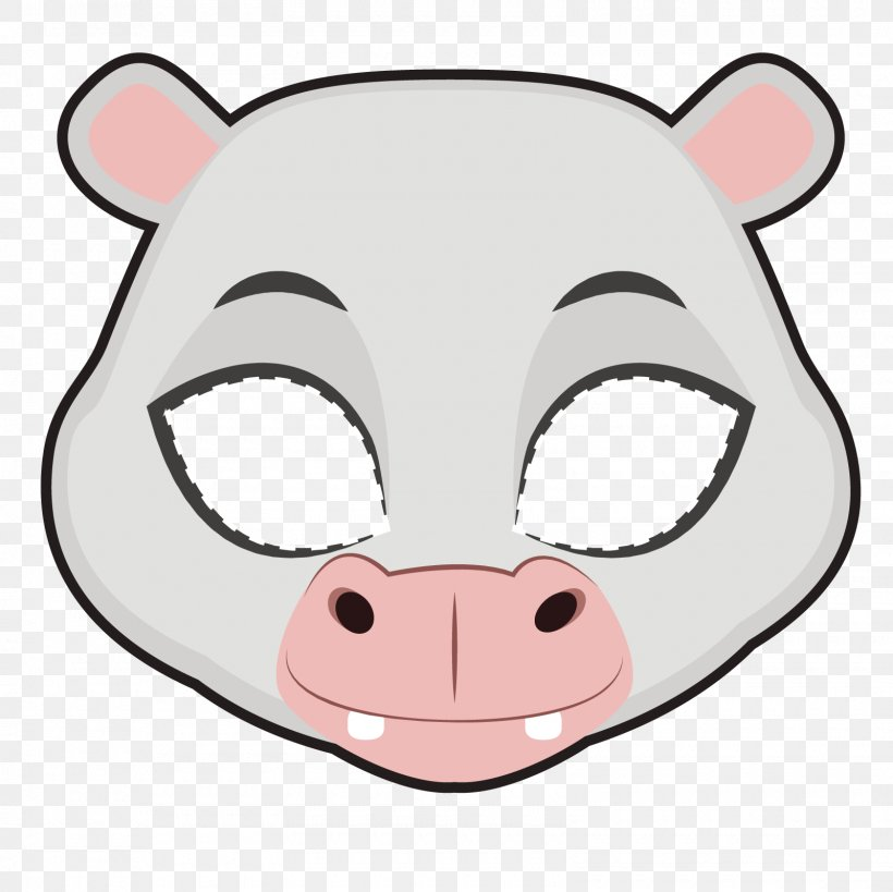 Euclidean Vector Whiskers Clip Art, PNG, 1600x1600px, Pig, Animal, Bear, Carnivoran, Cartoon Download Free