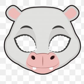 Vector Hippo Mask - Euclidean Vector Whiskers Clip Art PNG