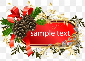 Vector Christmas Pine Cones Tag - Pine Euclidean Vector Christmas Conifer Cone PNG