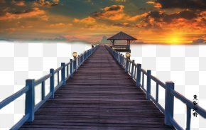 The Evening Cloud And Bridge - Sunset Afterglow Download Cloud PNG