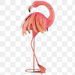 Cartoon Flamingo - Plastic Flamingo Metal Garden Ornament PNG
