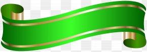 Elegant Banner Green Clip Art - Banner Clip Art PNG