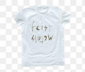 White T-shirt - T-shirt Sleeve Neck Font PNG