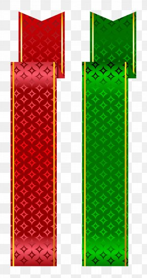 Green And Red Banner Set Clipart - Web Banner Clip Art PNG