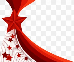 Red Star Decorative Background - Red Illustration PNG