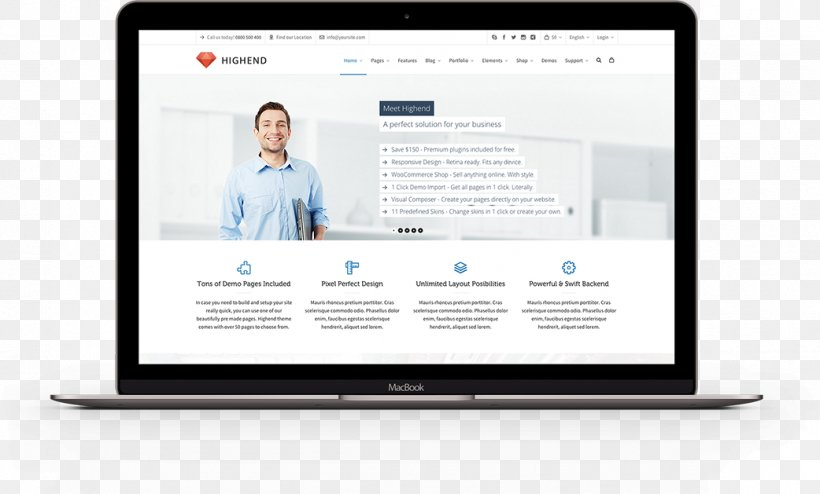 Theme Wordpress Responsive Web Design Web Page Png 1042x629px Theme Brand Business Communication Computer Monitor Download