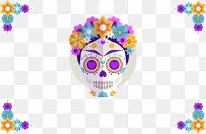 Effect Skull - Calavera Wedding Invitation Day Of The Dead Public Holiday Skull PNG
