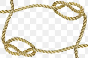Yellow Rope Border - Rope Picture Frame Knot PNG