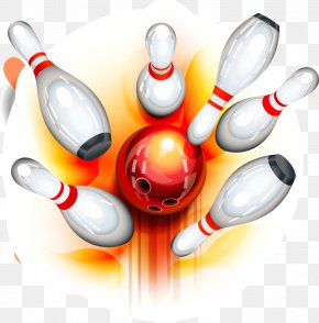 Cartoon Sports Equipment - Bowling Pin Bowling Ball Clip Art PNG