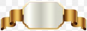 Gold Label Template Transparent Clip Art Image - Label Clip Art PNG