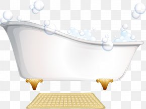 Hand-painted Bathtub - Bathtub Bathroom Towel Bathing Clip Art PNG