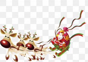 Santa's Sleigh - Santa Claus Ded Moroz Christmas PNG