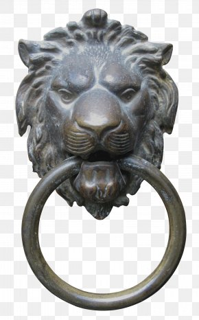Bronze Lion Head Door Knocker - Lions Head Door Handle Door Knocker PNG