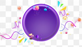Cool Violet Round - Purple Circle Designer PNG