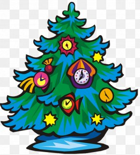 Cartoon Christmas Tree - Ded Moroz New Year Tree Drawing Christmas Tree Clip Art PNG