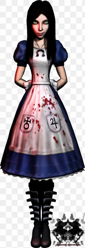 Alice Liddell - Costume Design Cartoon Dress PNG