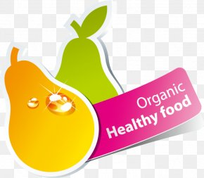 Lovely Fruit Arrow Sticker Tag Vector Download - Fruit Pear PNG