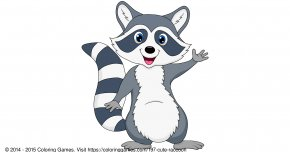 Raccoon - Raccoon Cartoon Clip Art PNG