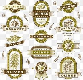 Pure Natural Olive Oil Label - Olive Oil Label Clip Art PNG