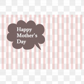 Mother's Day Illustration - Pink M Rectangle Brand Award Font PNG