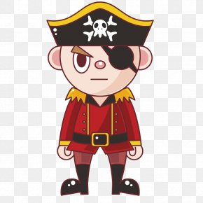 Vector-eyed Pirate Character - Piracy Illustration PNG