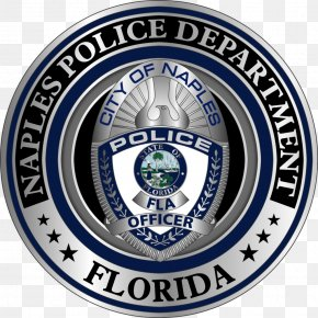 Police - Naples Police Department Police Officer Badge Chief Of Police PNG