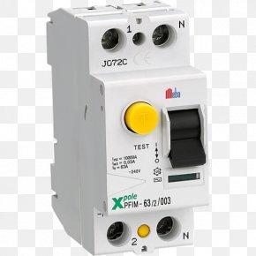 Earth Leakage Circuit Breaker - Circuit Breaker Electrical Network PNG