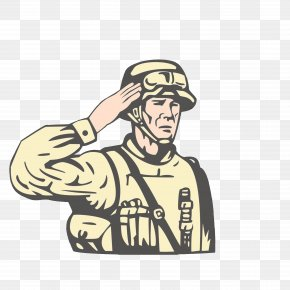 Foreign Soldiers Salute The Army - United States Royalty-free Military Soldier Illustration PNG