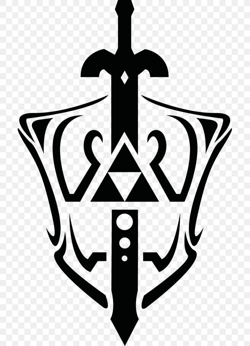 The Legend Of Zelda: The Wind Waker Triforce Master Sword Clip Art, PNG, 703x1137px, Legend Of Zelda The Wind Waker, Abziehtattoo, Anchor, Black And White, Deviantart Download Free