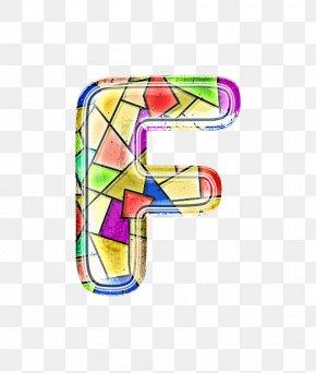 Stained Glass Letter F - Stained Glass Letter PNG