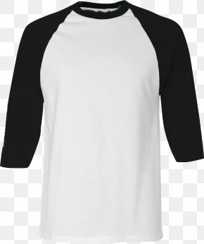 White Tshirt - T-shirt Raglan Sleeve Hoodie PNG
