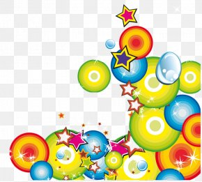 Color Ball - Paper Embroidery July Clip Art PNG