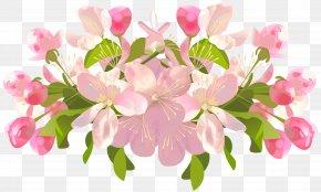 Spring Tree Flowers Transparent Clip Art Image - Flower Spring Clip Art PNG
