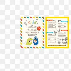 Vector Children's Menu - Menu Kids Meal Cooking Restaurant PNG