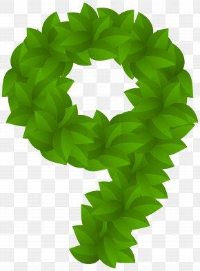 Leaf Number Nine Green Clip Art Image - Clip Art PNG