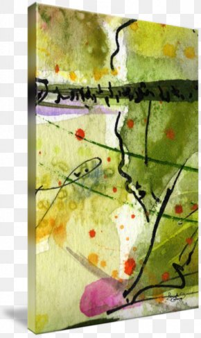 Abstract Nature - Watercolor Painting Modern Art Gallery Wrap Canvas PNG