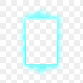 Picture Frame Rectangle - Background Blue Frame PNG