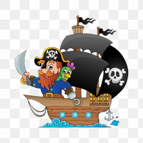 Pirate Pirate Material - Piracy Drawing Boat Illustration PNG