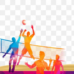 Volleyball Material Download - Volleyball Sport Poster PNG