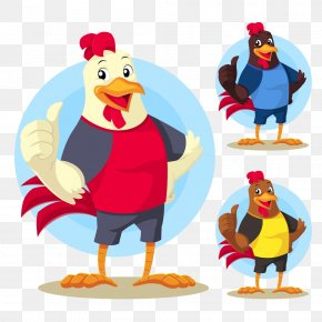Hand-painted Chicken Collection - Chicken Rooster Mascot Illustration PNG