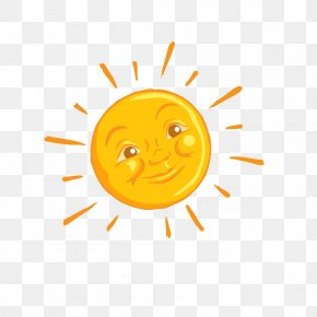 Hand-painted Sun Smiley Face - Smiley Computer Graphics PNG