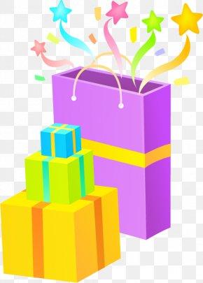 Vector Cartoon Gift - Gift Box Bag PNG