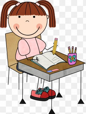 Working Today Cliparts - Free Writing Child Clip Art PNG