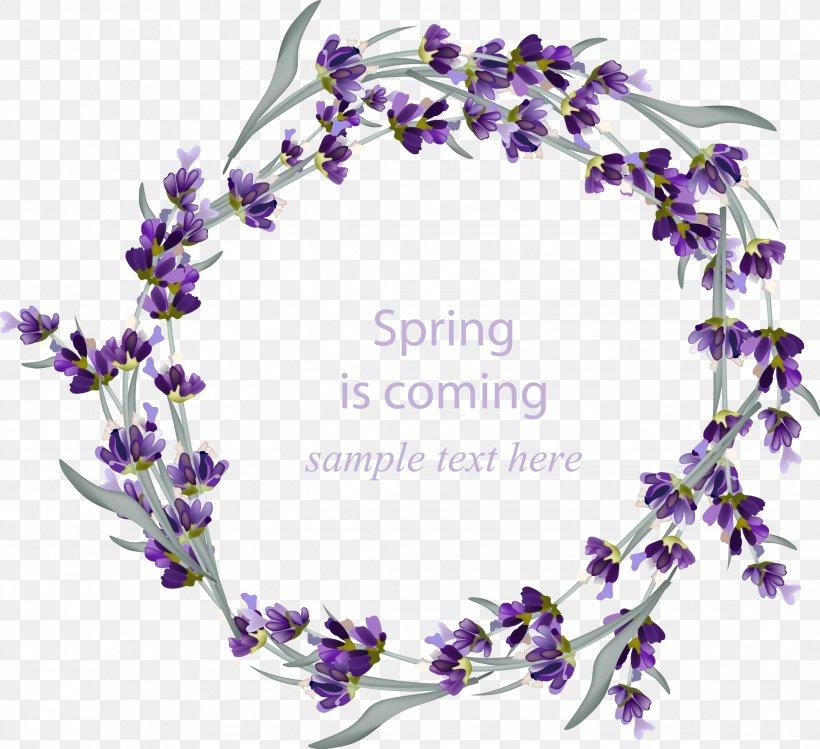 Wedding Invitation Lavender Wreath Flower Png 2139x1956px