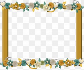 Blue Frame - Picture Frames Digital Scrapbooking Clip Art PNG