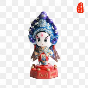 Opera Characters Ornaments - Beijing Sun Wukong Peking Opera Gift Figurine PNG