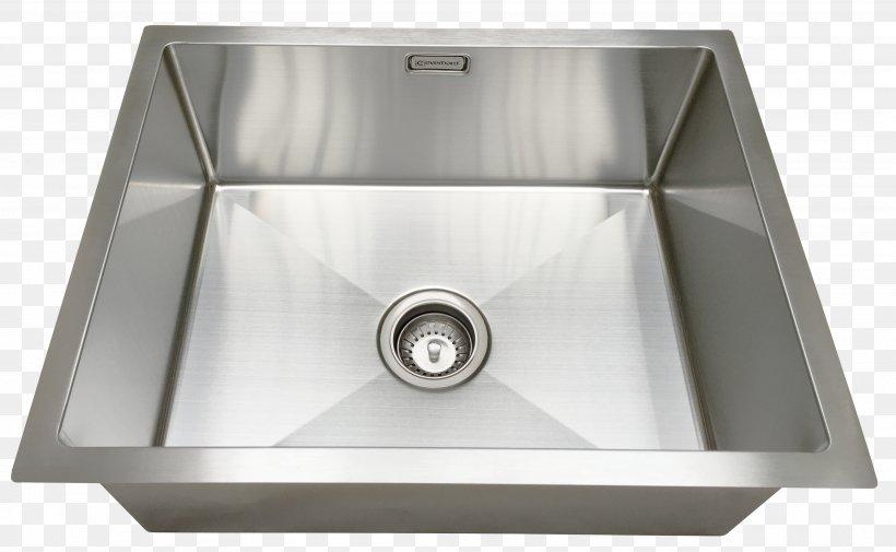 Kitchen Sink Stainless Steel Baths Bowl Sink, PNG, 3758x2318px, Sink, Bathroom, Bathroom Sink, Baths, Bowl Sink Download Free