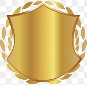 Golden Shield Badge - Shield Icon PNG