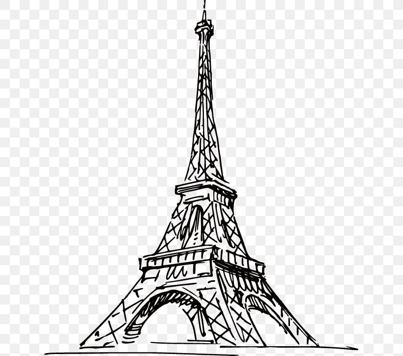 Eiffel Tower Tokyo Tower Drawing Png 639x725px Eiffel Tower Advertising Arrondissement Of Paris Black And White