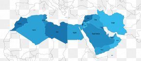 Middle East Map - MENA Middle East North Africa World Map PNG